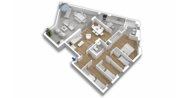 Plano el Llimonet, pisos obra nueva en vilanova i la geltrú